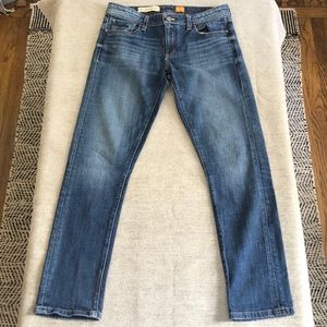Anthro Pilcro and the Letterpress Hyphen fit jeans